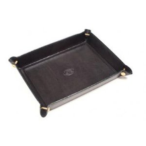 Tony Perotti Women's Italian Bull Leather Executive Organizer Travel Tray, Black
