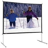 Fast Fold Deluxe Portable Projection Screen Viewing Area: 103'' H x 139'' W
