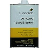 SUNNYSIDE CORPORATION 83416 1 Pint Denatured Alcohol Solvent -