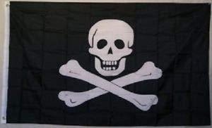 LuxMart 3x5 Pirate Edward England Samuel Bellamy No Patch Flag 3'x5' Nylon Poly Banner ()
