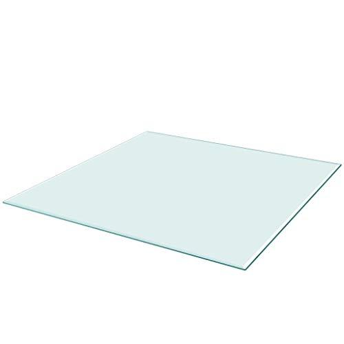 Vislone Cristal Cuadrado Tablero de Mesa Templado de Cristal para ...