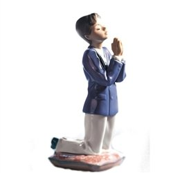 Lladro Communion Prayer Porcelain Figurine, Boy