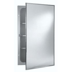 Jensen 478FS Basic Styleline Recessed Steel Medicine Cabinet, White by Jensen
