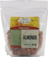 Vitacost Organic Raw Almonds -- 8 oz (227 g)