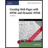 New Perspectives on Creating Web Pages with HTML and Dynamic HTML, Carey, Patrick, 0619187190