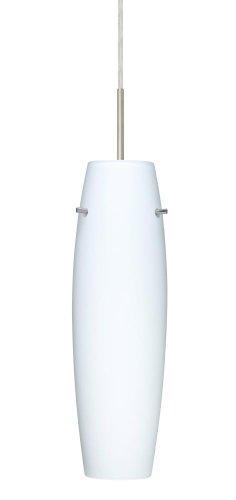 - Besa Lighting 1JT-489707-SN 1X100W A19 Suzi Pendant with Opal Matte Glass, Satin Nickel Finish