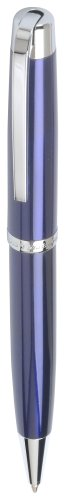 Marquis Metro WM/821/BE/C Ball Pen Blue Lacquer with Chrome, Packaged in Black Lacquer Box by Marquis