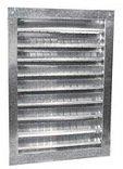 Dual Louver 12x18in Aluminum - 18 Aluminum Louver
