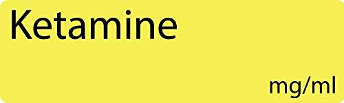 Ketamine Anesthetic Syringe Labels - Box of 800 Labels on roll (1