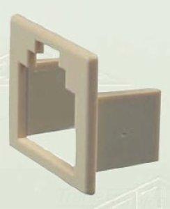 Allen Insert Jack Tel - Allen Tel Products AT6-4 Converts 6 Position Jack To 4 Position Jack Insert, Ivory, 10-Pack