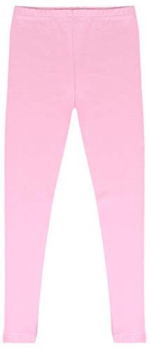 CAOMP Girls'%100 Organic Cotton Leggings for School Play (5-6, Pink)