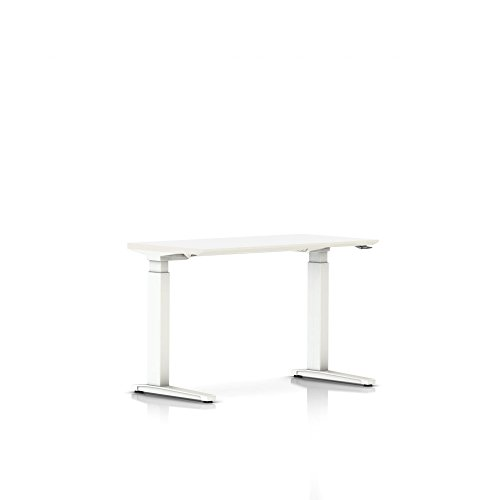 Herman Miller Renew Sit-to-Stand Table-Thin Edge Laminate Top/Thermoplastic Edge-No Power Access-Simple Cord Cover