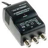 Alimentatore TV 2 USCITE 300mA Connettori F, con ERP e spia LED