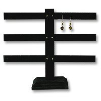 Earring Stand T Bar 3-Tier Black Earring Jewelry Display