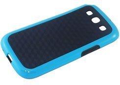 avci Base 4260310642741Carreaux Coque pour Samsung Galaxy S3i9300Noir/Bleu
