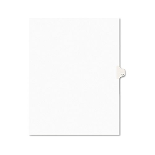 Side Tab Legal - Avery Individual Legal Exhibit Dividers, Avery Style, 12, Side Tab, 8.5 x 11 inches, Pack of 25 (11922)
