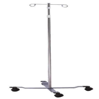 MCK59703200 - Mckesson Brand IV Pole Floor Stand entrust 2-Hook 4-Leg, Dual-Wheel Nylon Casters, 22 Inch Epoxy-Coated Steel Base (Wheel Epoxy)
