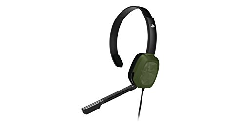 PDP PS4 LVL 1 Chat Gaming Headset 051-031-NA-NCAM, Green Camo by PDP