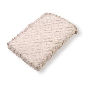 - LordBee Twin Size 100% Cotton Bedspread in Beige with Diamond Pattern Original Construction Design Compact Soft Existing Decor