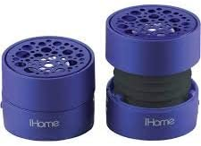 iHome Sound Beyond Size iHM78 Stereo Speaker System for iPod, iPhone iPad, MacBook Any Laptop and MP3 Player Purple .