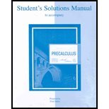 Student Solutions Manual to Accompany Precalculus : Functions and Graphs, Barnett, Raymond, 0072917709