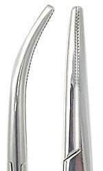 Hemostat Kelly Stainless Steel Forceps Curved - 5.5 Inch Long - Biopsy Needle