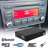 Stereo Bluetooth Handsfree A2DP USB SD AUX MP3 WMA CD Changer Adapter Interface Car Kit Audi A3 A4(B7) TT(MKII) Concert 3+ Chorus 3+ Symphony 3+ Delta 6+ Navi BNS 5.0 Navi RNS-E