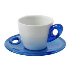 Bialetti Porcelain Espresso Cup and Saucer Set, Service for 2