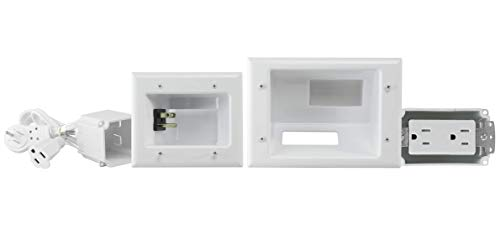 DataComm Electronics 45-0024-WH Recessed Pro-Power Kit with