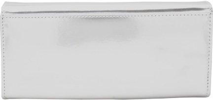 a NutriChart Femina Women's with Silver Clutch Metallic Sleek Wallet xAx0Y