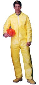 Tyvek QC Coveralls, Sewn and Bound Seams Standard Suit with Zipper Front (12 per case) - Size X-Large Sunrise