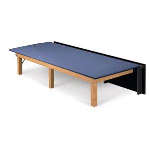Hausmann 1422 Folding Therapy Platform-Natural Oak-Regimental Blue by Hausmann Industries Inc (Image #1)