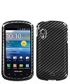 Samsung Stratosphere SCH-i405 Racing Fiber (2D Silver) Cell Phone Snap-on Cover Faceplate / Executive Protector Case