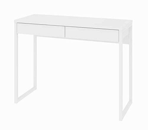 TVILUM 80122uu Walker 2 Drawer Desk, White High Gloss by TVILUM (Image #1)