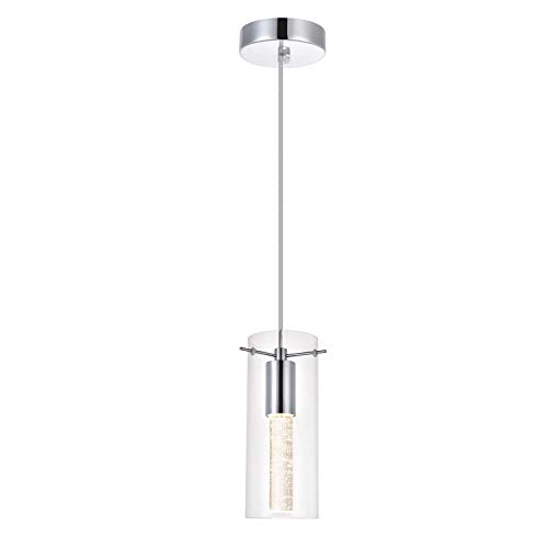 Modern Chrome Pendant Light in US - 6