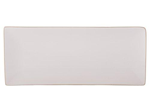 Mikasa Gourmet Ceramic Rectangular Platter, 36 x 15 cm (14