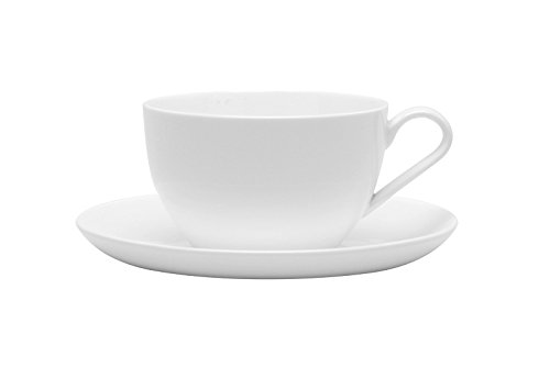 Red Vanilla Pure Vanilla 7-Inch Jumbo Cup/Saucer, 14-Ounce, Set of 2