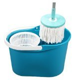 Spin & Go Pro Touchless 360 Degree Rotating Mop with Spin Cycle System & Bucket