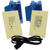 Midlite A46-I Décor Recessed Receptacle and Power Inlet Kit (Ivory) (Receptacle Cor Recessed)