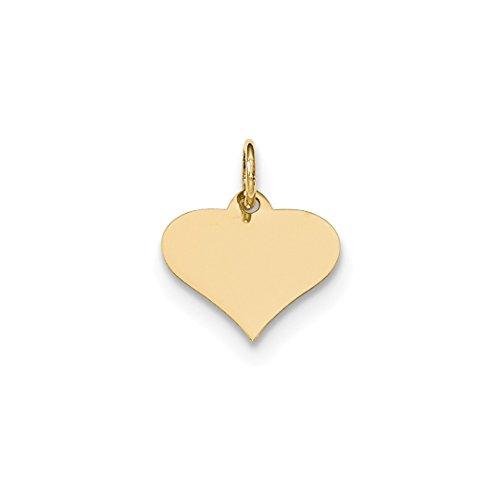 Gauge Engraveable Heart Disc Pendant Charm Necklace Love Engravable Shapely Fine Jewelry For Women Gift Set ()