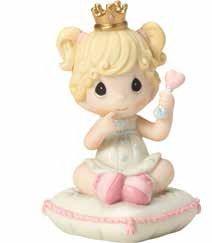 Precious Moments Lil' Princess Bisque Porcelain Figurine 163015 (Princess Porcelain)