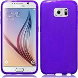 HR Wireless Samsung Galaxy S6 Edge - Frosted TPU Cover - Carrying Case - Retail Packaging - Purple