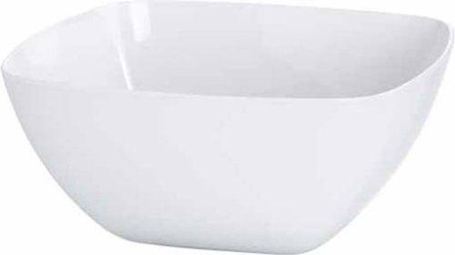 Emsa 504632 Eckige Schale für Salat, Kunststoff, 4.6 Liter, 26.5 x 26.5 x 12.5 cm, Weiß, Vienna