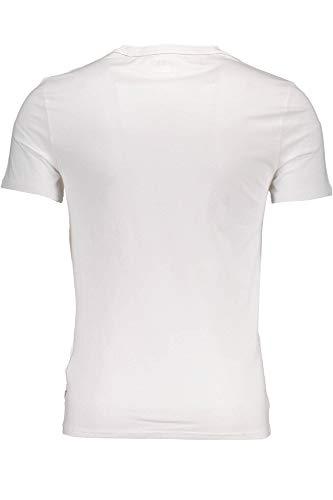 Jeans Bianco shirt M84i32j1300 Twht Maniche T Uomo Guess Corte d0gycqdA