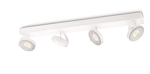 Philips Clockwork Opbouwspot 4-Lichts – Duurzame LED Verlichting – Dimbaar naar Warmwit Licht – Draaibaar – Rechthoekig…