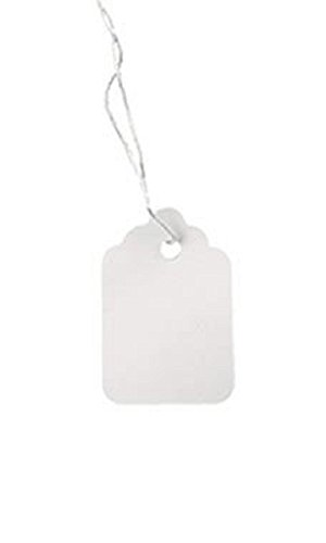 #5 Strung White Merchandise Price Tags - Pack of 1,000
