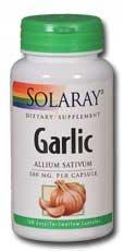 Solaray ail capsules, 500 mg, 100 comte