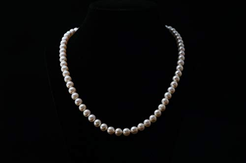 8.5 Mm White Pearl - White Freshwater Cultured Pearl Necklace 8mm - 8.5mm Genuine Cultured Freshwater Pearls (16 Inches)