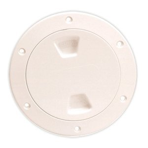 Beckson 4'' Smooth Center Screw-Out Deck Plate - Beige by BECKSON MARINE