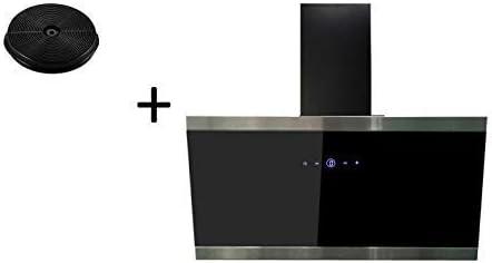 respekta CH88090SA+MIZ1000 - Campana extractora (90 cm, incluye filtro de carbón activo), color negro: Amazon.es: Grandes electrodomésticos